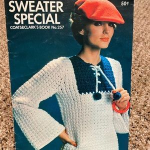 1976 Coats & Clark's #257 Sweater Special knit